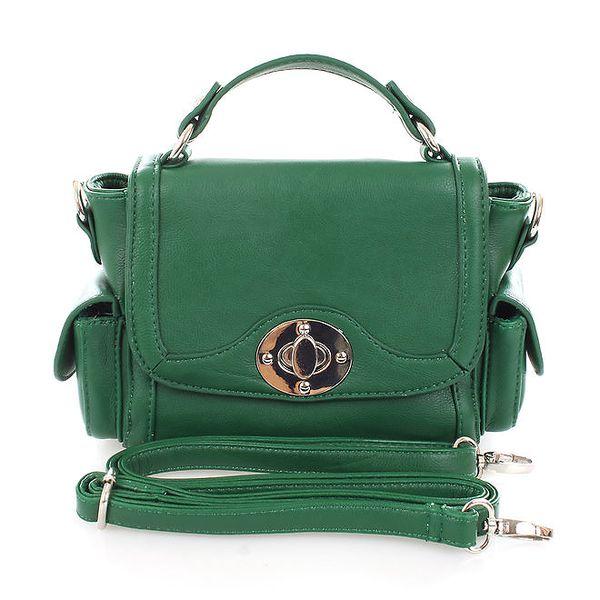 Dámská zelená kabelka se zámečkem Tantra