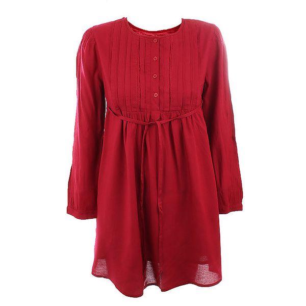 Dámské tmavě červené viskózové šaty Tantra