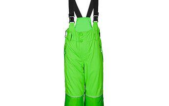 Zelené lyžařské kalhoty s kšandami