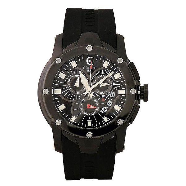 Pánské černé hodinky Cerruti 1881