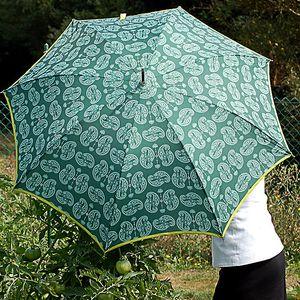 Dámský zelený deštník Alvarez Romanelli s bílým vzorkem