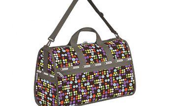 Puntíkatá taška na víkend + kosmetická taštička