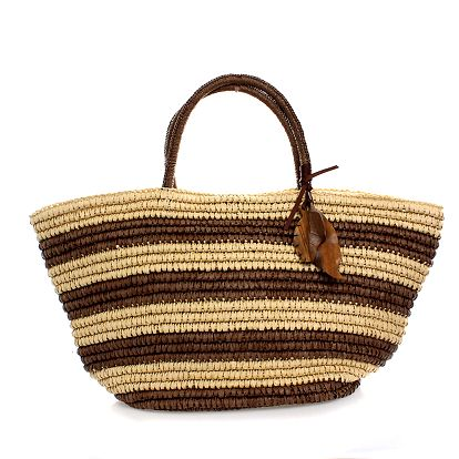 Dámská béžová pruhovaná taška Max Mara