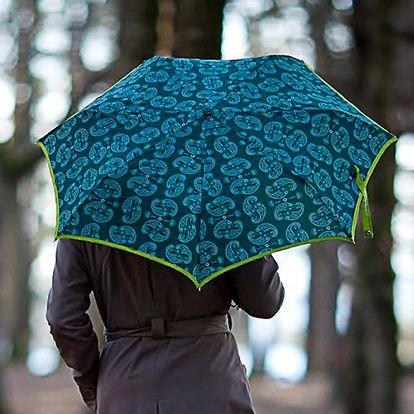 Dámský zelinkavý deštník Alvarez Romanelli s bílým vzorkem