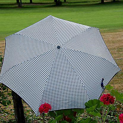 Dámský šedý puntíkatý deštník Alvarez Romanelli