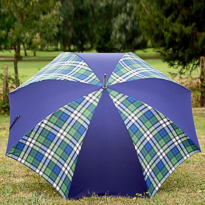 Dámský deštník Alvarez Romanelli s tartanovým vzorem modrý