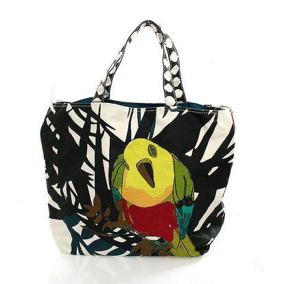 Dámská barevná taška s papouškem Max Mara