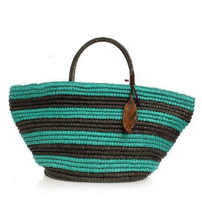 Dámská zelená pruhovaná taška Max Mara