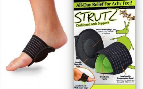 Podpora na chodidla Comfort Strutz, která podporuje a pomáhá absorbovat nárazy při každém kroku a ulevíte bolesti klobů u nohou.