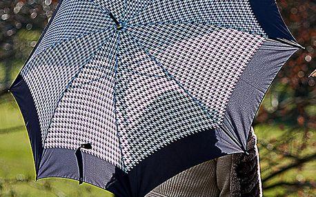 Dámský černý deštník s kohoutí stopou Alvarez Romanelli