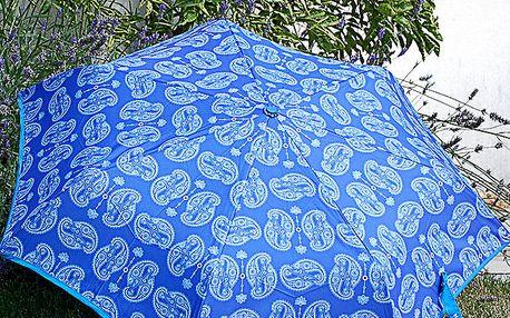 Dámský modrý deštník Alvarez Romanelli s bílým vzorkem
