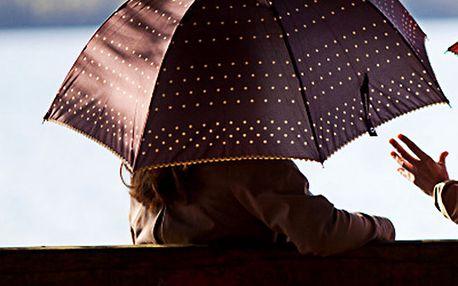 Dámský hnědý deštník s puntíky Alvarez Romanelli