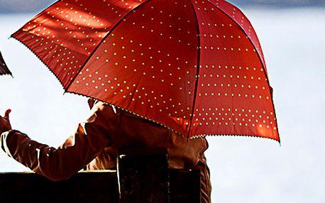 Dámský oranžový deštník s puntíky Alvarez Romanelli