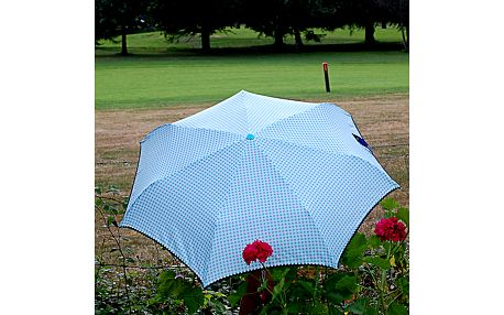Dámský modrý puntíkatý deštník Alvarez Romanelli