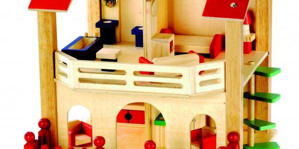 BINO Domeček pro panenky s vybavením