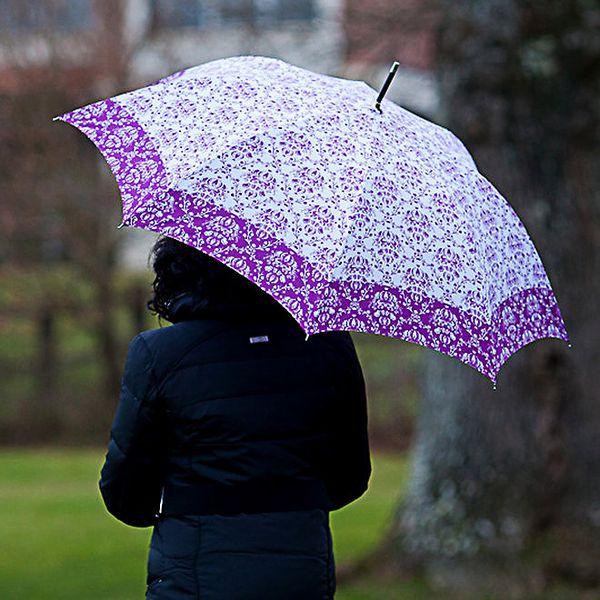 Dámský deštník s vintage fialovým vzorem Alvarez Romanelli
