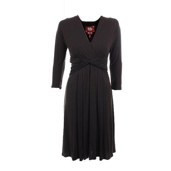 Dámské černé šaty s uzlem Max Mara