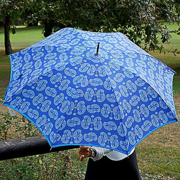 Dámský blankytně modrý deštník Alvarez Romanelli s bílým vzorkem