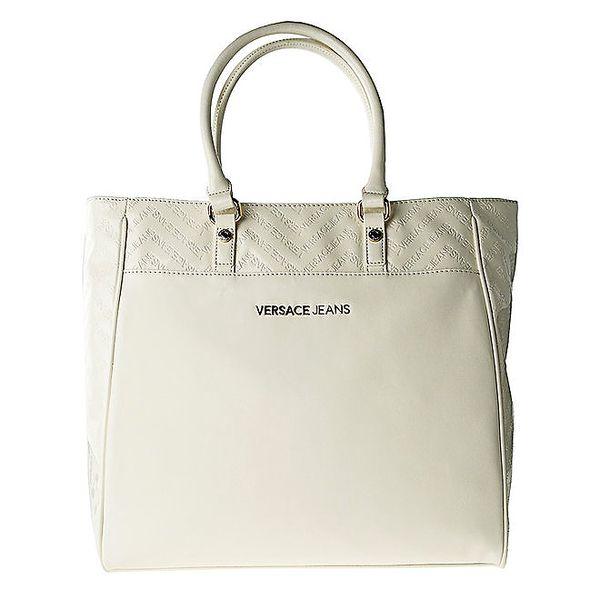 Dámská bílá kabelka s reliéfním vzorem Versace Jeans