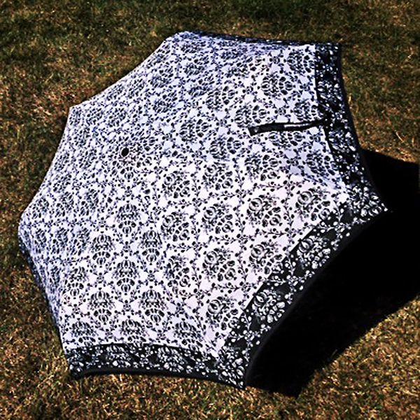 Dámský deštník se vzorem Alvarez Romanelli černý