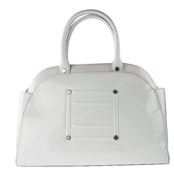 Dámská oblá bílá lakovaná kabelka Versace Jeans