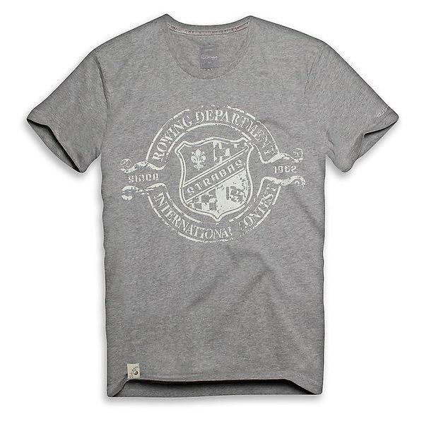 Pánské světle šedé triko s veslařským potiskem Paul Stragas