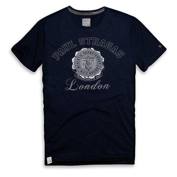 Pánské tmavě modré tričko s potiskem Paul Stragas