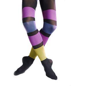 Krásné barevné pruhované punčocháče od švédské značky Happy Socks