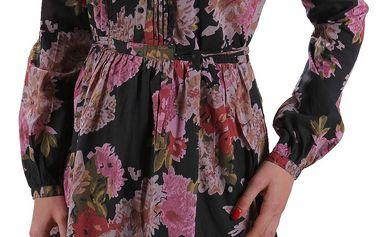 Dámské šaty Sisley s barevným květinovým vzorem