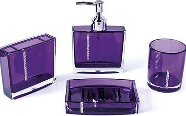 Sada fialových koupelnových doplňků