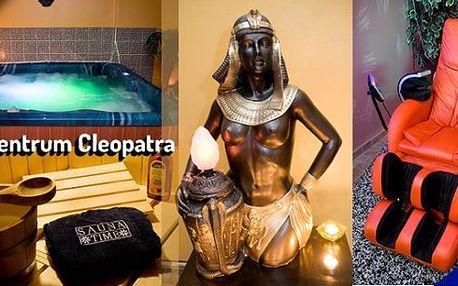 Relax centrum Cleopatra Vám přináší privátní relaxaci na 2 nebo 3 hodiny nebo permanentku na 100 minut do solária. Ideální relax pro dva.