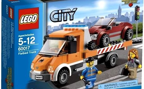 Stavebnice Lego City 60017 Auto s plochou korbou