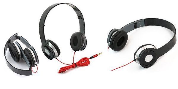 Lehká skládací sluchátka BETTERSOUND HR65 poskytující výborný zvukový výkon s klapkami na uši z měkké kůže!