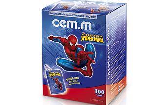 Multivitamin a multiminerál CEM-M pro děti 100 tbl. Spiderman + kapsička