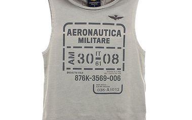Dětské šedo-béžové tílko Aeronautica Militare