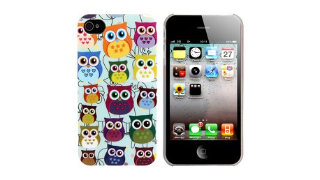 Plastový kryt na iPhone 5/5S se sovičkami a poštovné ZDARMA! - 5805398