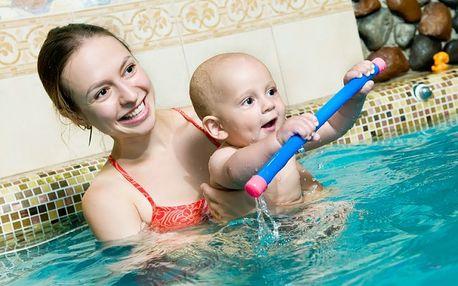 Mesačný kurz plávania mamičiek s bábätkami v centre Mother len za 85 EUR - Novembrové termíny
