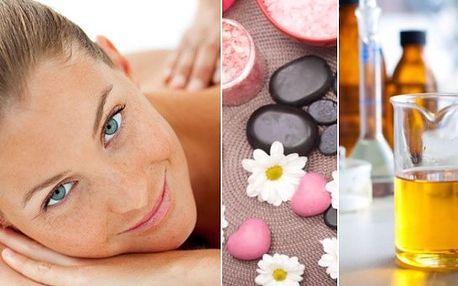 60ti minutová masáž zad s aromaterapií za 364 Kč!