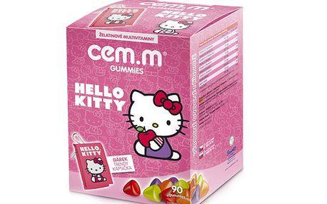 Multivitamin a multiminerál CEM-M pro děti 90 tbl. Hallo Kitty + kapsička