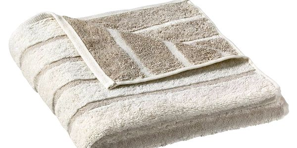 Elegantní tři kusy ručníků Cawö Frottier Tonic 50x100 béžová