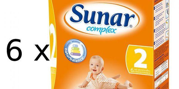 Mléčná kojenecká výživa Sunar Complex 2 - 6 x 600g