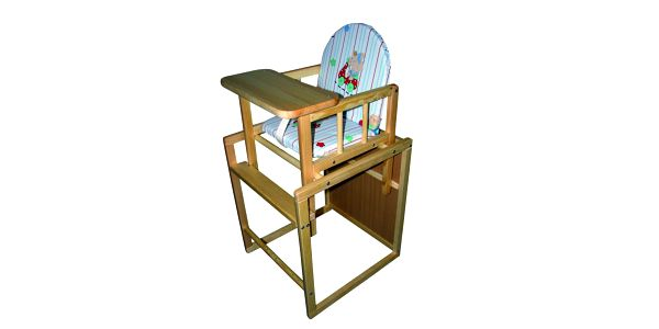 BooBoo Jídelní rozkládací židlička Kombi