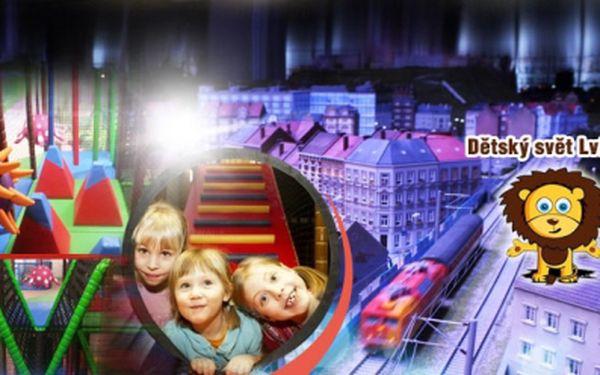 CELODENNÍ VSTUP do kouzelného dětského světa LVÍČEK PLZEŇ jen za 79 Kč a POZOR, navíc ZDARMA dětská vstupenka do Království železnic Praha, největšího modelového kolejiště v ČR! Dvojitá zábava pro Vaše děti! Sleva 80%!