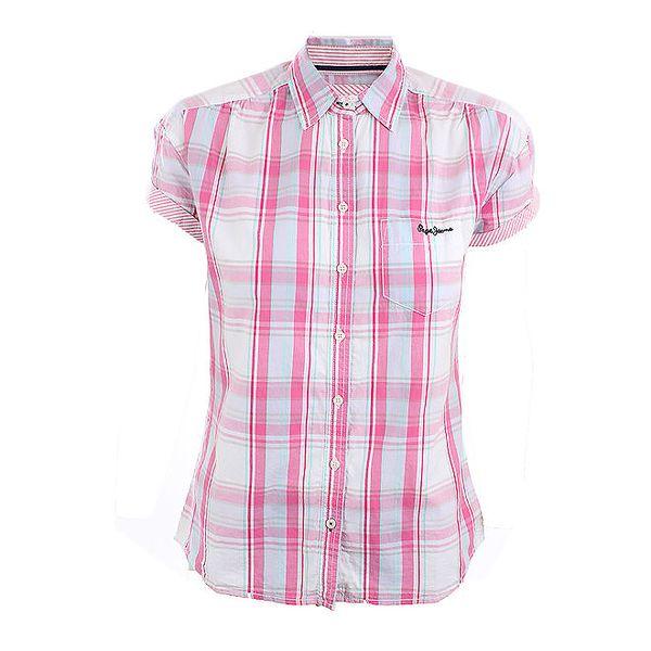Dámská růžově kostkovaná košile Pepe Jeans