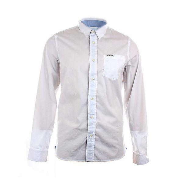 Pánská bílá slim fit košile Pepe Jenas