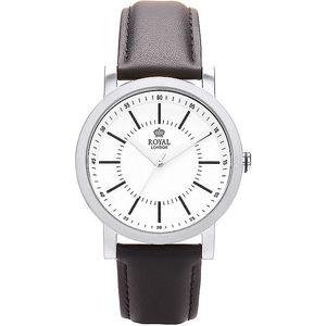 Kulaté stříbrné analogové hodinky Royal London