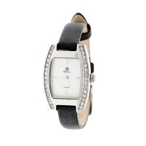 Dámské stříbrné hodinky s kamínky Royal London