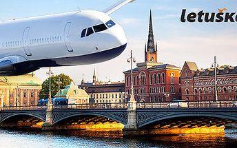 Zpáteční letenka pro 1 osobu do Stockholmu.