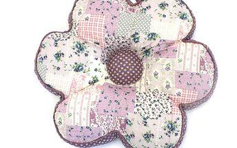 Polštářek/sedák ve tvaru květiny