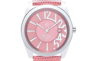 Dámské růžové hodinky Royal London